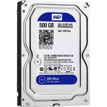 Жесткий диск WD 500Gb WD5000AZRZ Blue 5400rpm/64MB