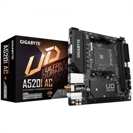 Мат. плата Gigabyte AMD A520 A520I AC, Socket AM4