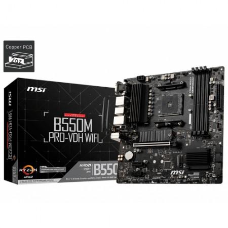 Мат. плата MSI AMD B550 [B550M PRO-VDH WIFI] Socket AM4