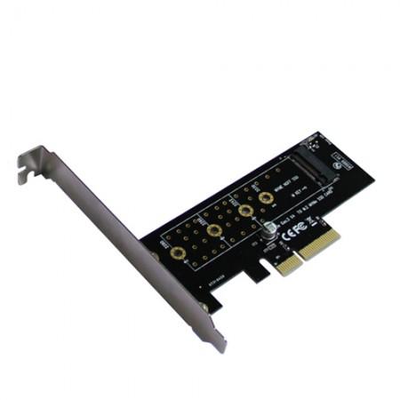 Адаптер PCI-E3.0x4-to-M.2(PCI-E NVME) AgeStar AS-MC01