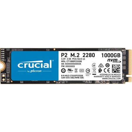 Накопитель SSD Crucial 1000Gb P2 CT1000P2SSD8 M.2 2280 NVMe