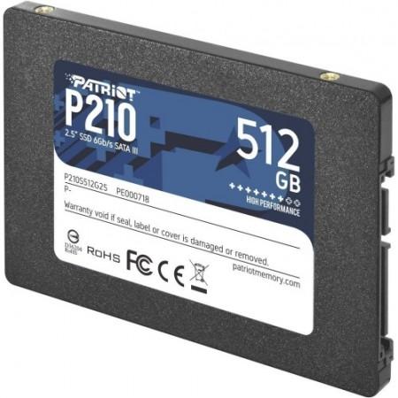 "Накопитель SSD Patriot 512GB P210 [P210S512G25] SATA3 2.5"""