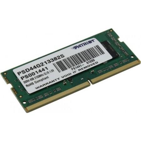 Память SO-DIMM DDR4 4Gb 2133MHz Patriot [PSD44G213382S]