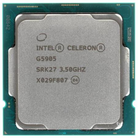 Процессор Intel Celeron G5905 S1200 2C/4T 3.5GHz 4Mb UHD610