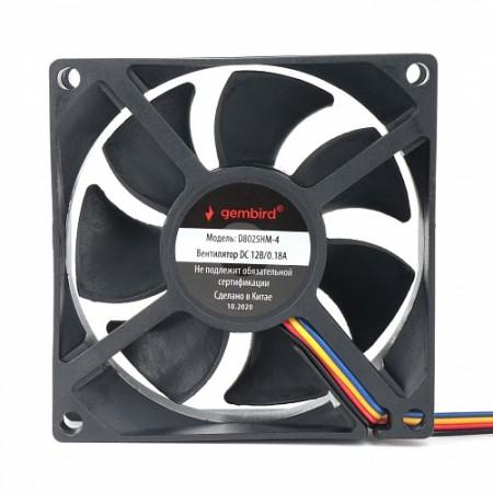 Вентилятор для корпуса Gembird D8025HM-4 80x80x25