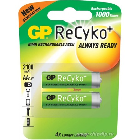 Аккумуляторы GP ReCyko 2шт [210AAHCB-UC2]