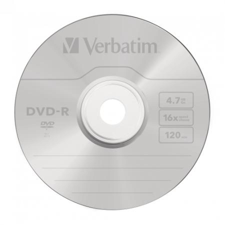 Диск DVD-R 4.7Gb Verbatim 16х Cake Box 43549