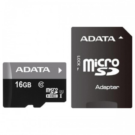 Флеш карта micro SD16Gb A-DATA AUSDH16GUICL10-RA1 CL10 UHS-I