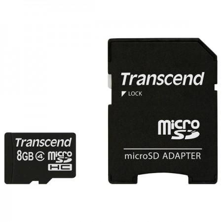 Флеш карта micro SD 8Gb Transcend [TS8GUSDHC4]
