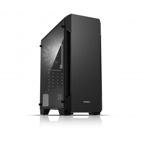 Корпус Zalman S3 Black ATX, без БП, USB3.0x1, USB2.0x2, 1x12
