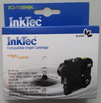 Картридж Brother LC1100/980/67/65/61/38BK Black InkTec DCP-1