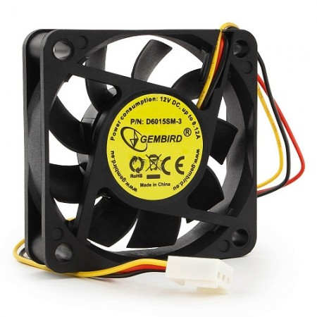 Вентилятор для корпуса Gembird D6015SM-3 60x60x15, гидродина
