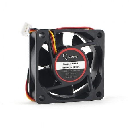 Вентилятор для корпуса Gembird D6025HM-3 60x60x25, гидродина