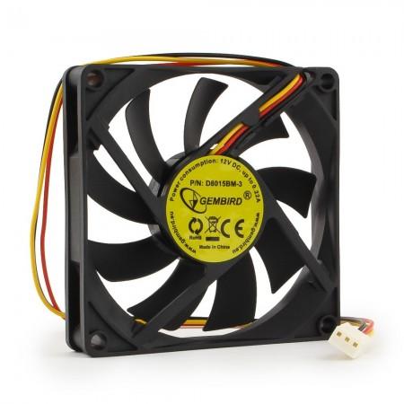 Вентилятор для корпуса Gembird D8015ВM-3, 80x80x15, подшипни