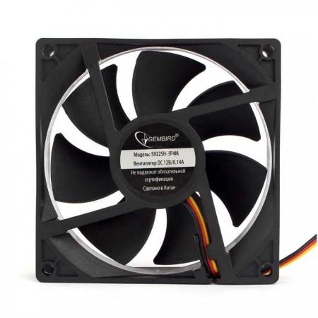 Вентилятор для корпуса Gembird S9225H-3P4M 92x92x25, гидроди