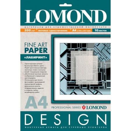 """Бумага Lomond A4 200г/м2 10л. матовая """"Лабиринт"""" 0923041 ярк"""