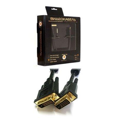 Кабель Konoos DVI-D 3м KC-DVI2-3, dual link черный, экран