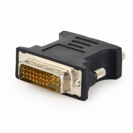 Переходник DVI-VGA Gembird A-DVI-VGA-BK, 29M/15F, пакет