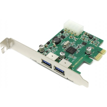 Контроллер Orient NC-3U2PE PCIe to 2 port USB3.0, доп. разъе