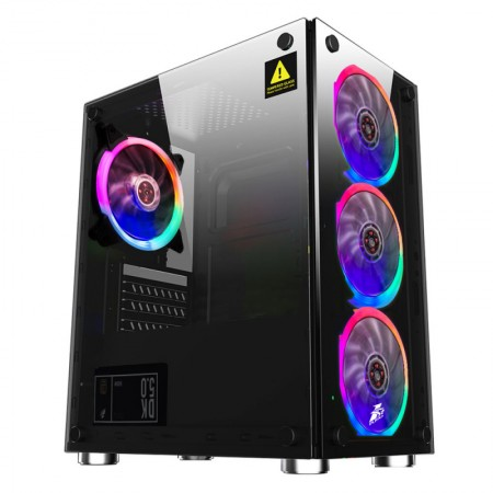 Корпус 1STPLAYER FIREBASE X2 mATX, tempered glass side panel