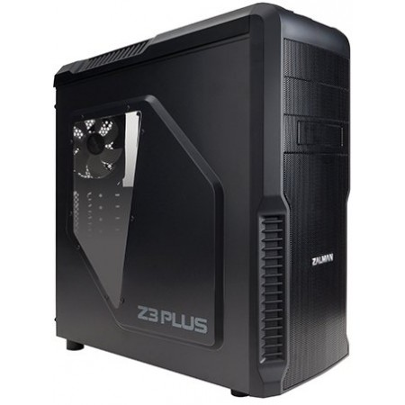 Корпус Zalman Z3 Plus Black MidTower ATX, без БП, USB3.0x1,