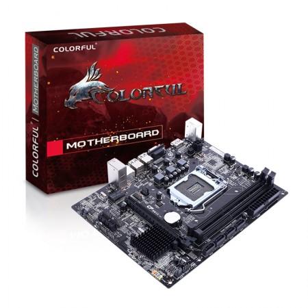 Мат. плата Colorful H61U PLUS V27, Socket 1155, Intel H61, 2