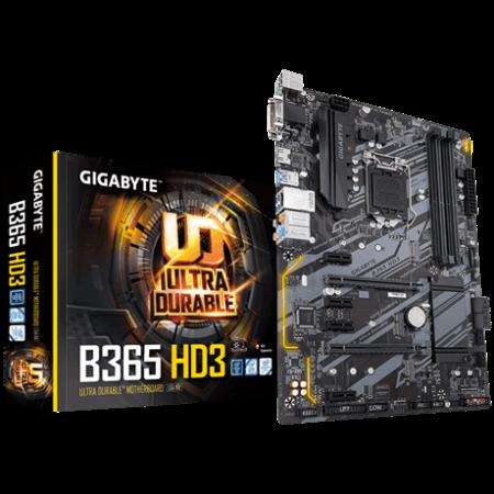 Мат. плата GIGABYTE B365 HD3, Socket 1151v2, Intel B365