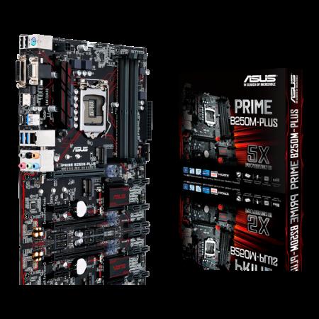 Мат. плата ASUS PRIME B250M-PLUS/C/SI /LGA1151,B250,U3S6,M.2