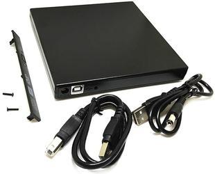 Корпус для привода Espada USD01, USB, slim, чёрный (37942)