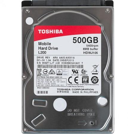 "Жесткий диск 2.5"" 500Gb Toshiba HDWJ105UZSVA L200  5400rpm/8"