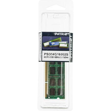 Оперативная память Patriot SO-DIMM 4Gb [PSD34G16002S]