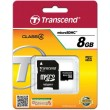 Флеш карта micro SD 8Gb Transcend [TS8GUSDHC4]