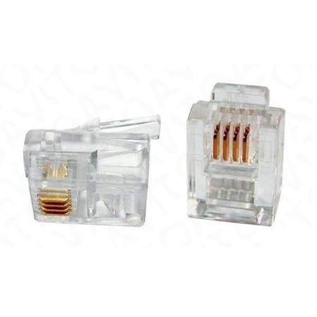 Коннектор TWT (TWT-PL12-6P4C) RJ12 д/кабеля 4-ех контактный