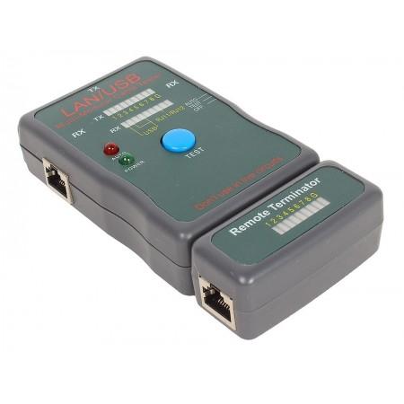 Тестер LAN Gembird NCT-2 100/1000 Base-TX  для UTP/STP/RJ-11