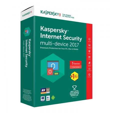 Антивирусное ПО Kaspersky Internet Security 3ПК/1Год
