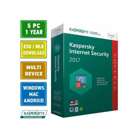 Антивирусное ПО Kaspersky Internet Security 5ПК/1Год