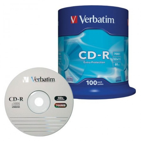 Диск CD-R Verbatim 700Mb [43411]