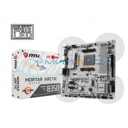 Материнская плата MSI B350M MORTAR ARCTIC