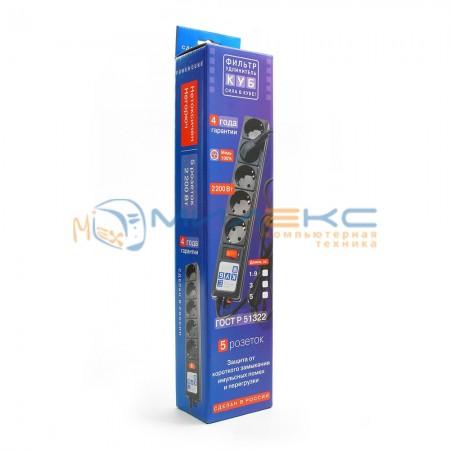 Сетевой фильтр Power Cube 3 м [SPG-B-10-BLACK]
