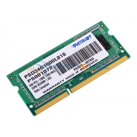 Оперативная память Patriot 4 Гб [PSD34G1600L81S]