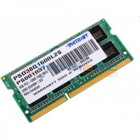 Оперативная память Patriot Memory 8 Гб [PSD38G1600L2S]