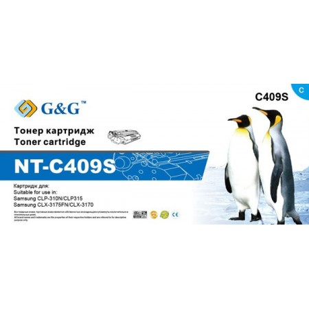 Картридж Samsung NT-C409S G&G голубой CLP-310N/CLP315/CLX-31
