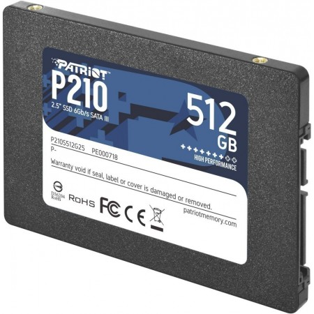 "Накопитель SSD Patriot 512GB P210 P210S512G25 SATA3 2.5"" 7mm"