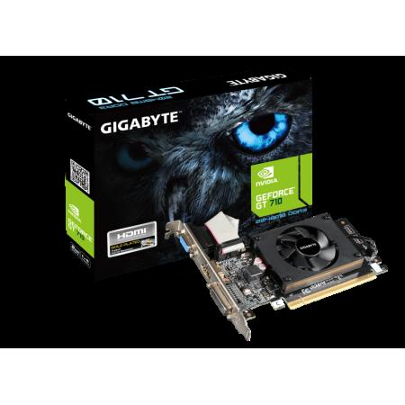 Видеокарта Gigabyte GV-N710D3-2GL GT710 2GB 64b DDR3 VGA/DVI